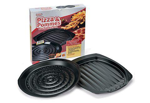 KAISER Bakblikkenset voor pizza en patat 2-delig